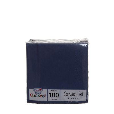 Tovaglioli di carta per cocktail 25x25 cm blu scuro