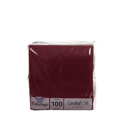 Tovaglioli di carta per cocktail 25x25 DOpla rosso bordeaux