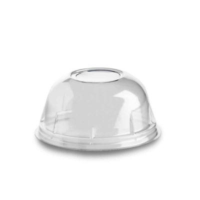 Coperchio bombato a cupola trasparente con foro Ø8,5 h4,0cm