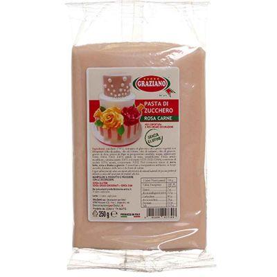 Pasta di zucchero rosa carne 250 g