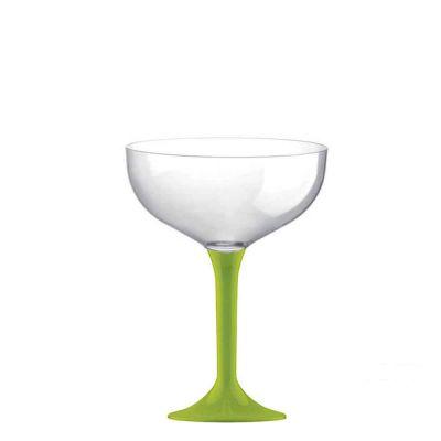 Coppe champagne riutilizzabili in plastica verde acido 205 ml