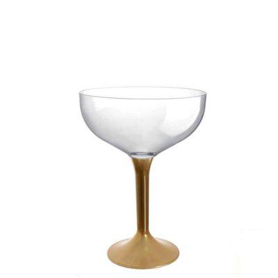 20 Coppe champagne lavabili oro 205cc