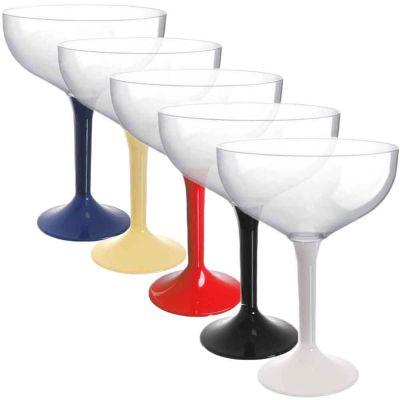 Coppe champagne riutilizzabili in plastica colorata 205ml