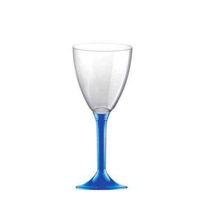 Calici da acqua riutilizzabili in plastica blu 180ml