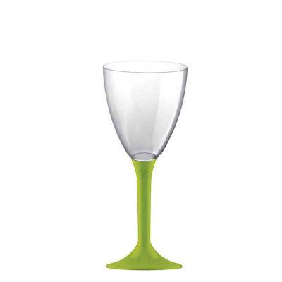 Calici da acqua riutilizzabili in plastica verde acido 180ml