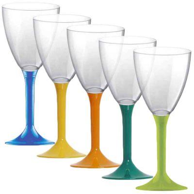 Calici da acqua riutilizzabili in plastica colorata 180ml