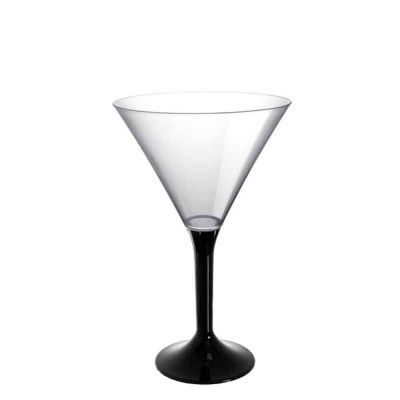 20 Coppe cocktail Martini lavabili nere 185cc