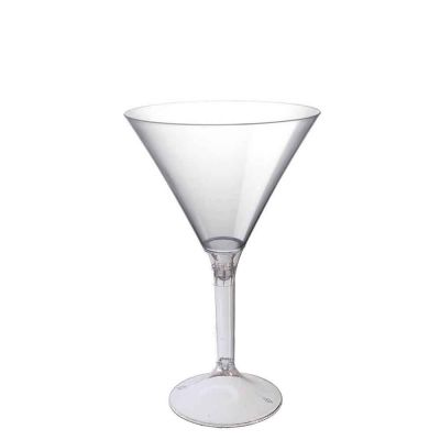 20 Coppe cocktail Martini lavabili trasparenti 185cc