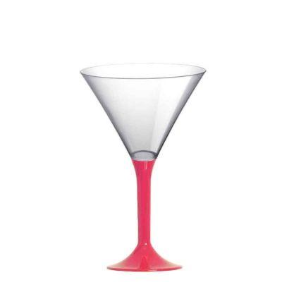 Coppe aperitivo Martini riutilizzabili in plastica rosa corallo 185ml