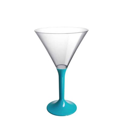 20 Coppe cocktail Martini lavabili turchesi 185cc