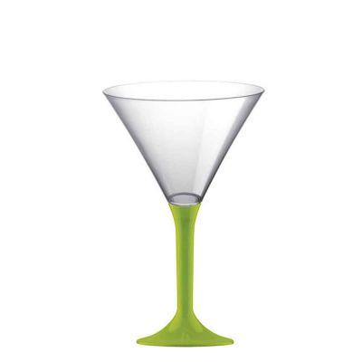 20 Coppe aperitivo Martini riutilizzabili in plastica verde acido 185ml
