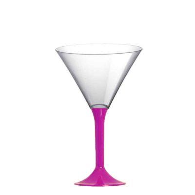 20 Coppe aperitivo Martini riutilizzabili in plastica viola 185ml