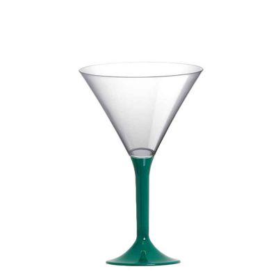 20 Coppe aperitivo Martini riutilizzabili in plastica verde 185ml