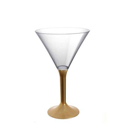 20 Coppe cocktail Martini lavabili oro 185cc