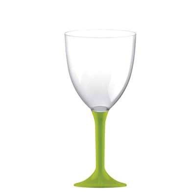 20 Calici vino lavabili verde acido 300cc