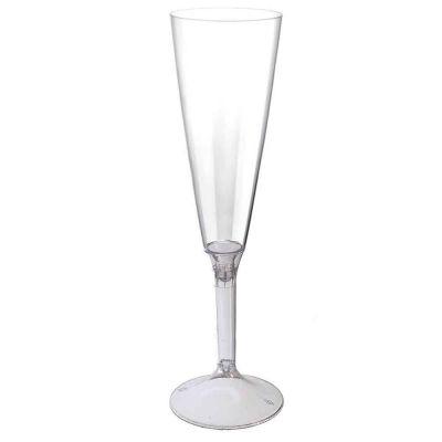 Calici Flute riutilizzabili in plastica trasparente 160ml