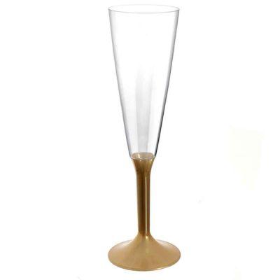 Calici Flute riutilizzabili in plastica oro 160ml