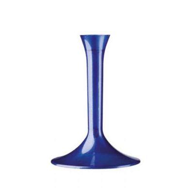 Gambi blu perlato alti per flutes coppe e calici