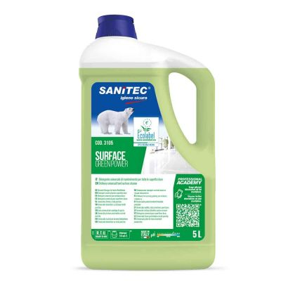 Surface Green Power detergente ecologico per superfici Sanitec 5 L