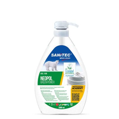 Neopol Green Power sapone ecologico per piatti Sanitec 1 L