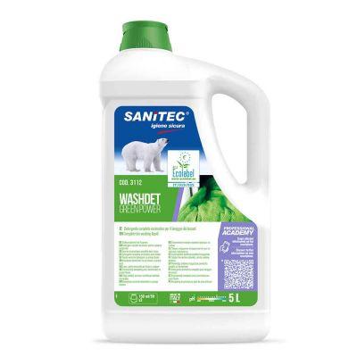 Green Power Washdet detergente concentrato per lavatrice Sanitec 5 l