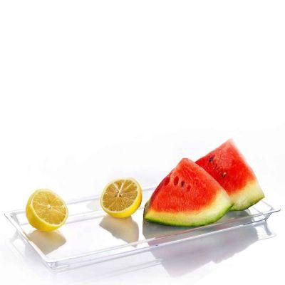 Vassoi rettangolari finger food con melone e limone