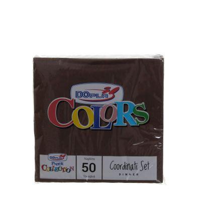 Tovaglioli di carta ovatta DOpla 33x33 marrone cioccolato