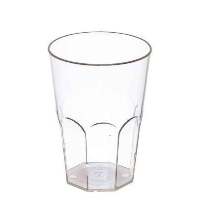 Bicchieri da cocktail lavabili in plastica trasparente 400ml