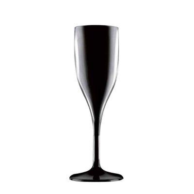 Bicchiere flute nero policarbonato 150cc Goldplast