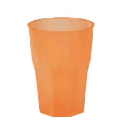Bicchieri per cocktail riutilizzabili satinati arancio 420cc