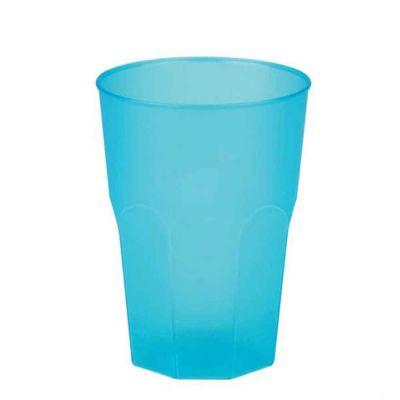 Bicchieri per cocktail riutilizzabili satinati turchesi 420cc