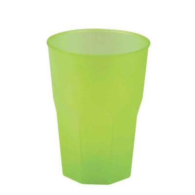 Bicchieri per cocktail riutilizzabili satinati verdi 420cc