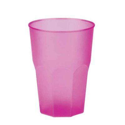 Bicchieri per cocktail riutilizzabili satinati fucsia 420cc