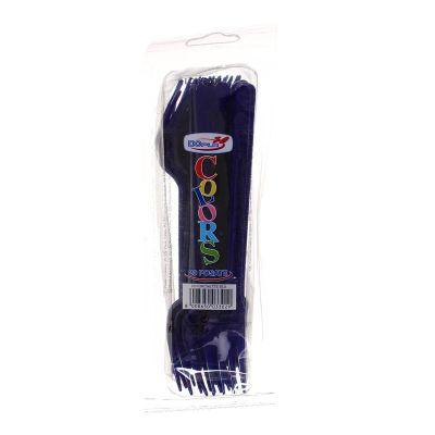 Forchette di plastica colorate DOpla Colors blu