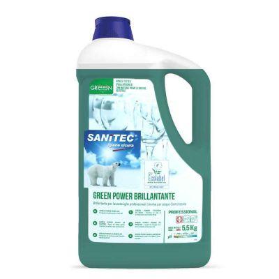Brill Green Power Brillantante per lavastoviglie ecologico Sanitec 5 L