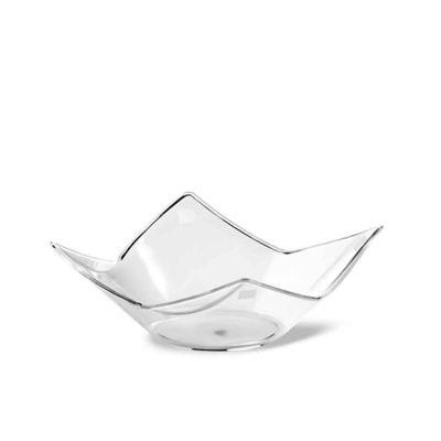 Bicchierini monoporzioni dessert a fiore Domino Poloplast in plastica trasparente