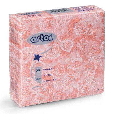 Tovaglioli in tessuto di carta airlaid 40x40 cm rose rosa