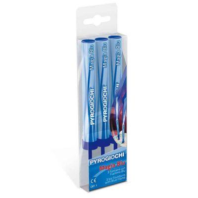 3 Fontane pirotecniche con fiamma blu