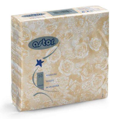 Tovaglioli in tessuto di carta airlaid 40x40 cm rose champagne