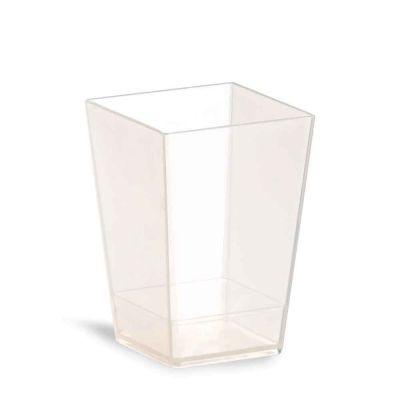 Bicchierini finger food Kubik 120 ml in PLA compostabile trasparente