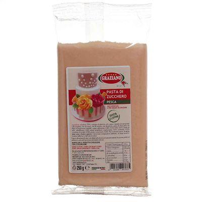 Pasta di zucchero rosa pesca per copertura 250 g Graziano