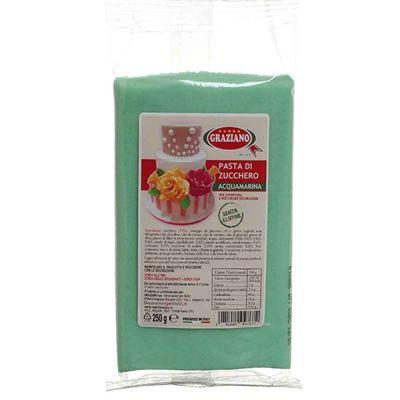 Pasta di zucchero acquamarina 250 g