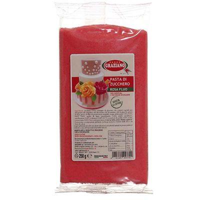 Pasta di zucchero rosa fluo per copertura 250 g