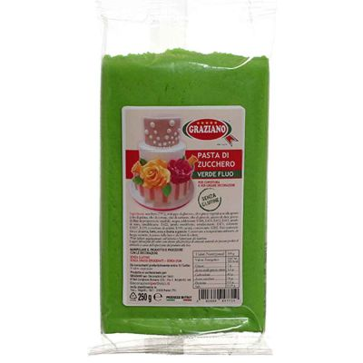 Pasta di zucchero verde fluo per copertura 250 g