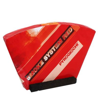 Batteria di 5 fumogeni smoke system rossi 1 minuto