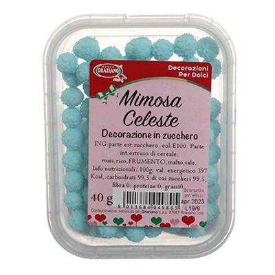 Palline di zucchero celesti Mimosa per decorazione 40 g Graziano
