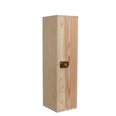 Cassetta scatola in legno per 1 bottiglia vino da 75 cl