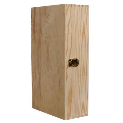 Cassetta scatola in legno per 2 bottiglie vino da 75 cl