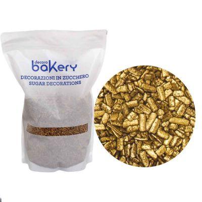 Scaglie di cioccolato Oro per decorazione dolci 1 kg Bakery