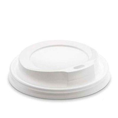 50 Coperchi compostabili bianchi con beccuccio Ø8,3cm